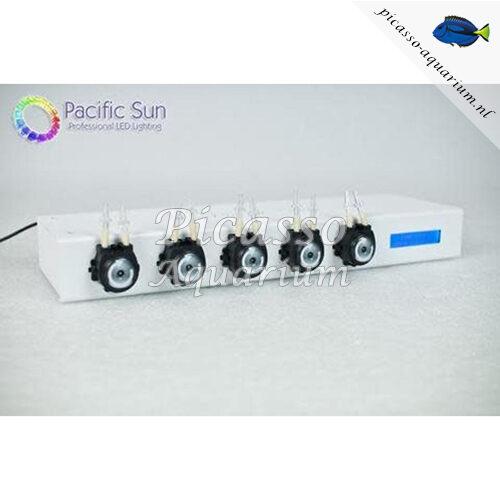 De Pacific Sun Kore 5th 5 channel Doser Base Unit is een nieuwe doseerpomp van Pacific Sun. De doseerpomp werkt volledig draadloos, heeft 5 kanalen